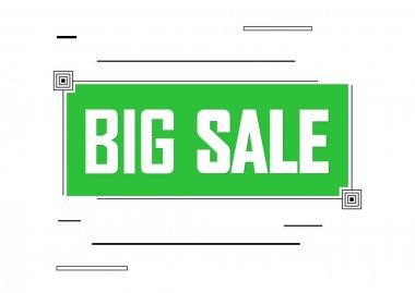 Big Sale, banner design template, discount tag. Promotion poster for shop or online store, vector illustration.