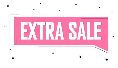 Extra Sale, banner design template, discount tag. Promotion poster for shop or online store, vector illustration.
