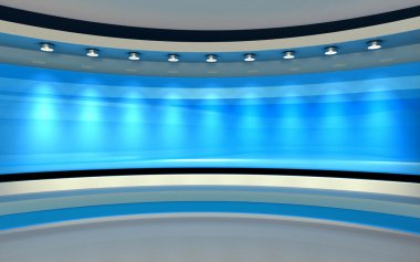 Tv Studio. News studio. The perfect backdrop for any green screen or chroma key video or photo production.