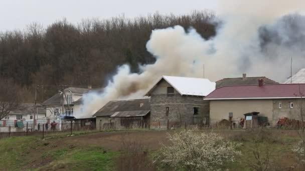 Footage -  Fire and smoke