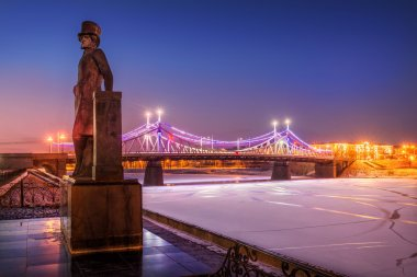 Pushkin in Tver night