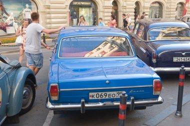 Blue retro GAZ-24
