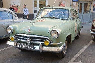 Soviet old green car