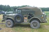 Retro car Dodge WC-57 Command Car at the 3rd international meeting of Engines of war near the city Chernogolovka, Moscow region, side view