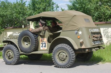 Retro car Dodge WC-57 Command Car at the 3rd international meeting of