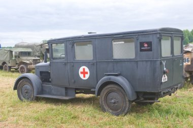 German ambulance Phenomenon Granite-25 Kfz.31, rear view, 3rd international meeting
