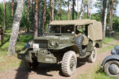 Retro car Dodge WC-52 at the 3rd international meeting of Motors of war near the town of Chernogolovka, Moscow region    Dodge WC-52