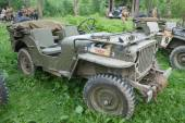 American military retro car Willys MB at the 3rd international meeting of Motors of war near the town of Chernogolovka, Moscow region