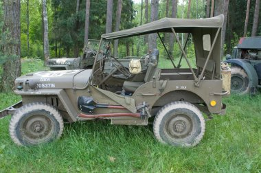 American car Willys MB at the 3rd international meeting of