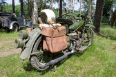 American military motorcycle INDIAN 741 B, rear view, 3rd international meeting Motors of war near the town of Chernogolovka, Moscow region