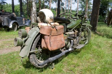 American military motorcycle INDIAN 741 B, rear view, 3rd international meeting