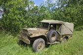 Retro car Dodge WC-51 at the 3rd international meeting of Motors of war near the city Chernogolovka, front view