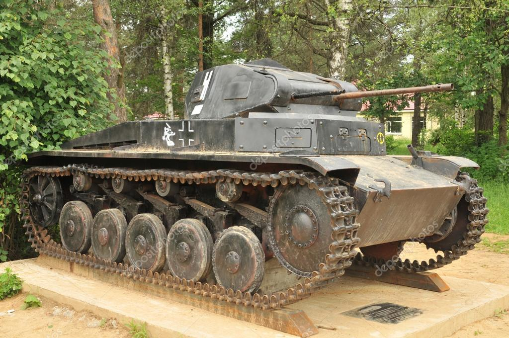 German Panzer tank-II in the Museum of armored vehicles in