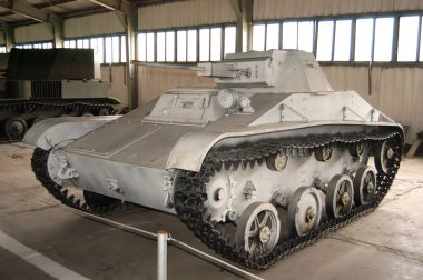 Soviet light tank T-60 in the Museum of armored vehicles, Kubinka, MOSCOW REGION, RUSSIA