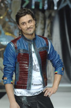 Moscow Fashion Week in Gostiny Dvor. Russian singer Dima Bilan at the fashion show of  Ilya Shiyan