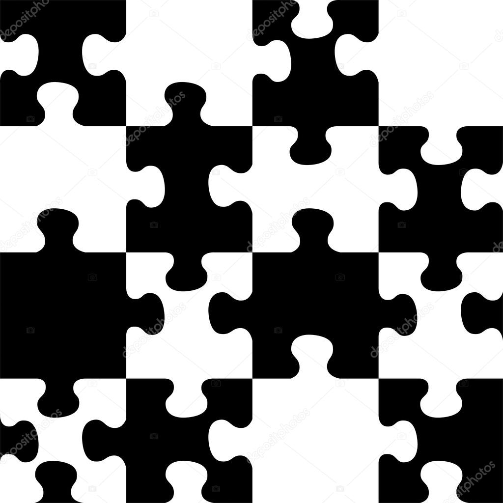 Vector seamless pattern. Decorative puzzle pattern ...