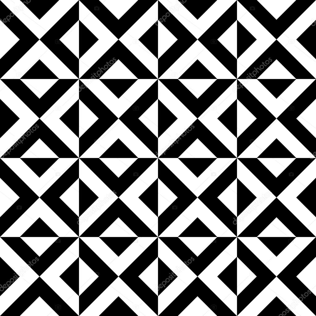 Arabische geometrische Muster. Dekorative schwarz-weiß & Dreiecke ...