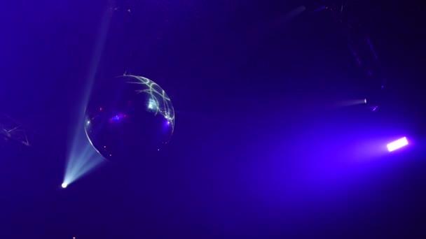 Malé disco zrcadlová koule, noční klub, bar hudba, světelná show