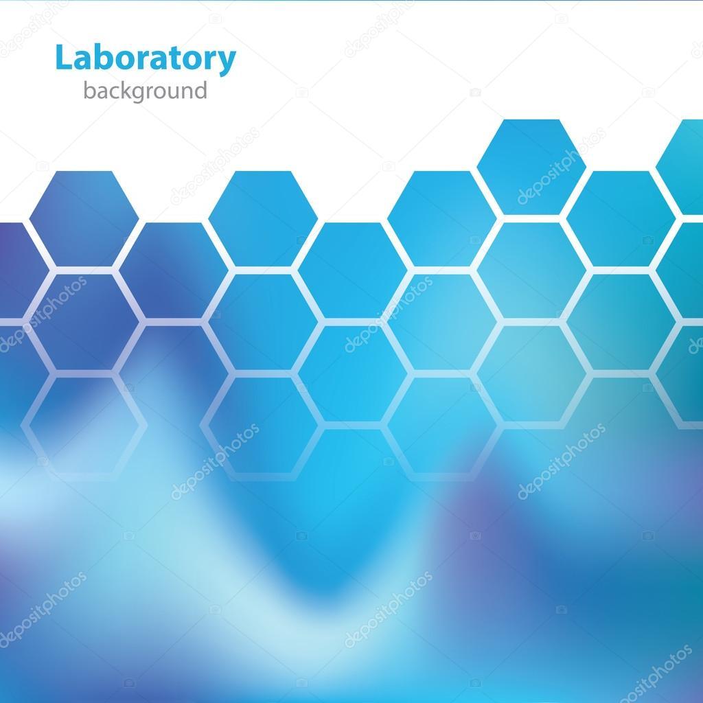 Ciencia y tecnología - fondo azul de laboratorio — Vector de stock ...