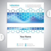 Fotografie business card - science and research - chemical formulas
