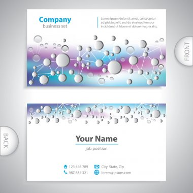 business card - science and research - molecular structure