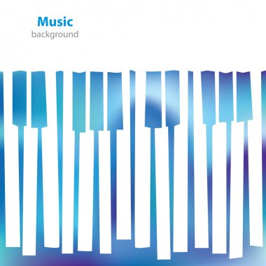 Abstract musical piano keys - business card - blank background