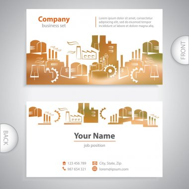 business card - Abstract Industrial building - company presentat