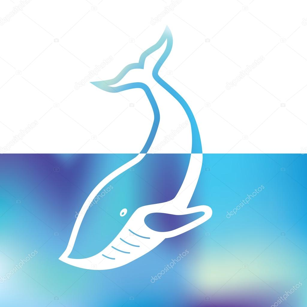 Big whale - symbol sea