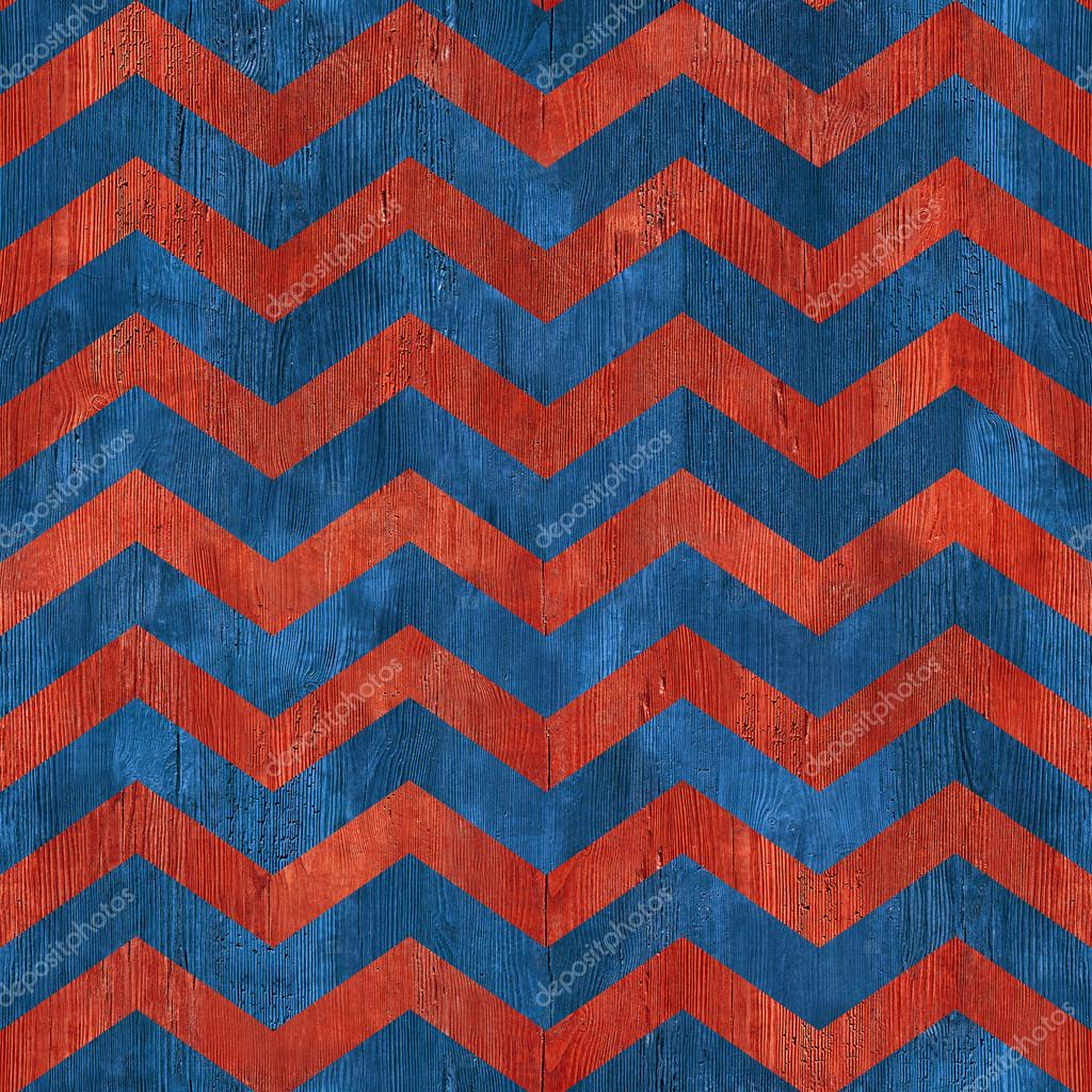 Abstract zigzag pattern - seamless pattern - red-blue color