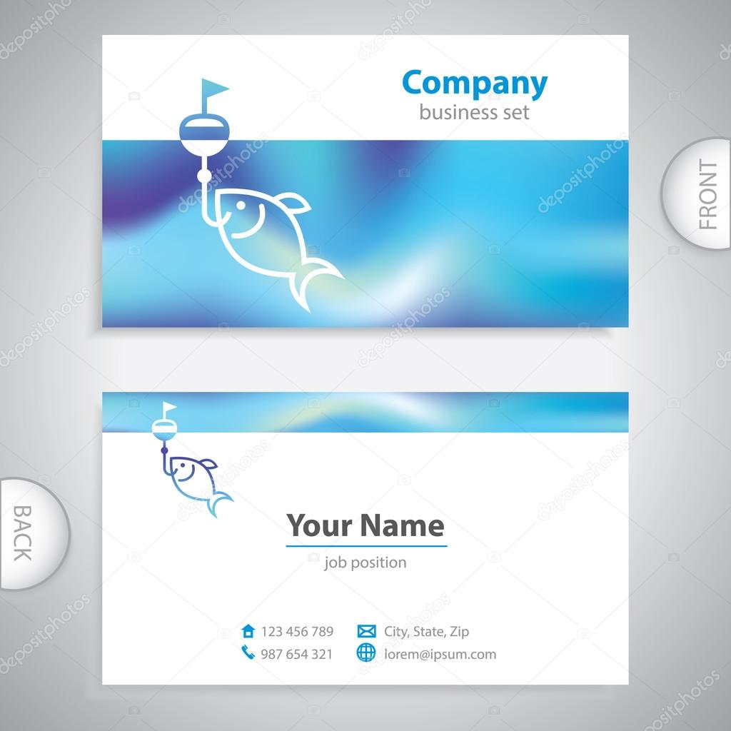 Business card fishing lures nautical symbol stock vector business card fishing lures nautical symbol company presentations vector by trompinex colourmoves