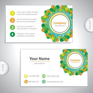 Business card - Abstract woods and gardens