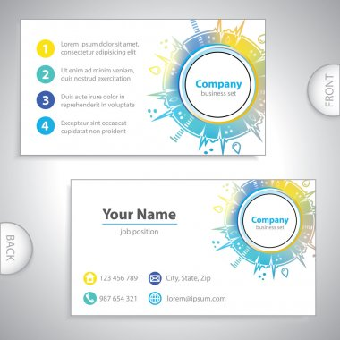 Business card - science and research - molecular analysis