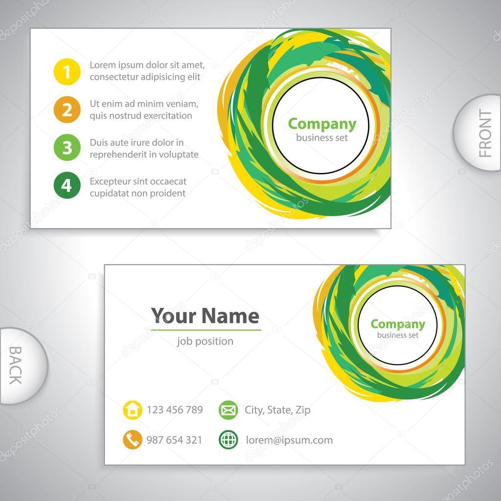 Visitenkarte Recycling Mischung ökologische Variante