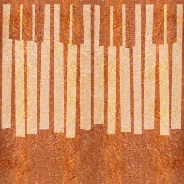 Abstract musical piano keys - seamless background - Carpathian E