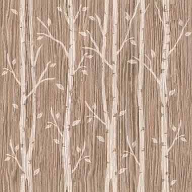 Decorative trees on seamless background - Blasted Oak Groove
