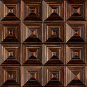 Fotografie Abstract paneling pattern - pyramidal pattern, Ebony wood texture