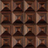 Abstract paneling pattern - pyramidal pattern, Ebony wood texture