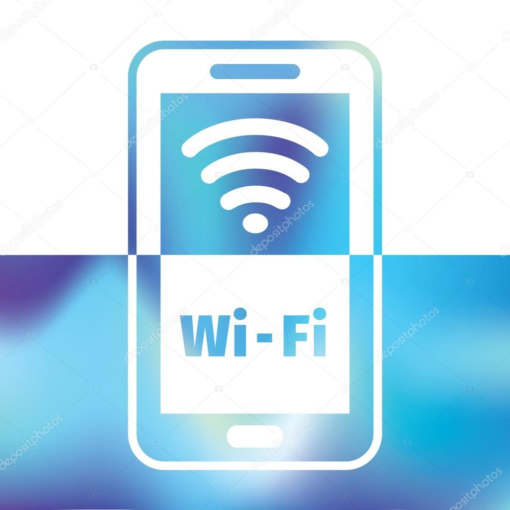 WiFi-Symbol - Verbindung für Smartphone oder Tablet-pc — Stockvektor ...
