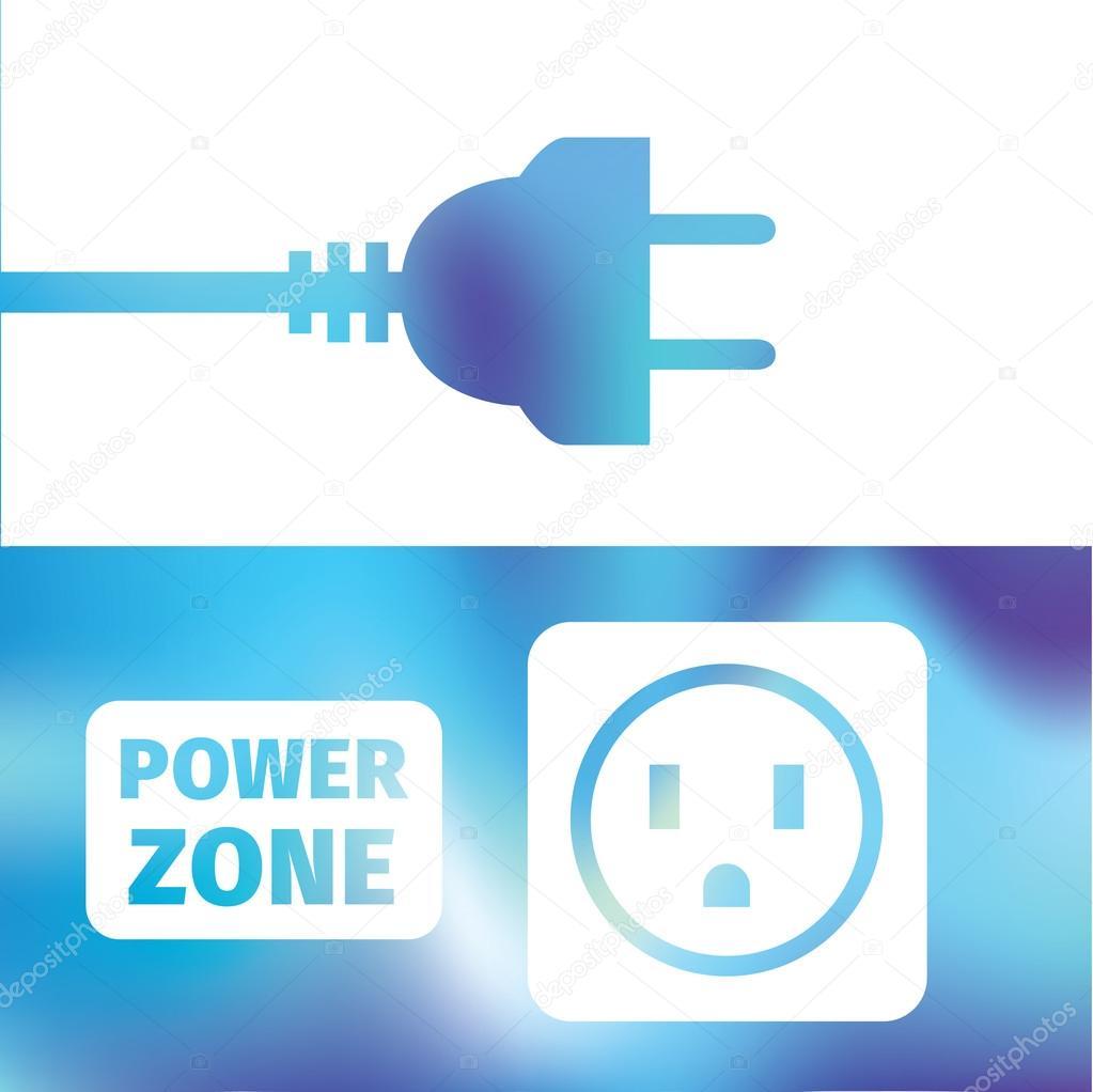 Elektrischer Anschluss - Kabel-Stecker und-Buchse - Symbol Strom ...