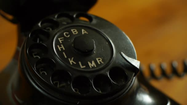 Dialing on a vintage telephone - Includes audio dial phone