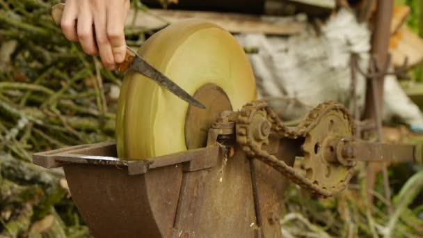 Hand Schleifstein Scharfen Messer Und Werkzeuge Einschliesslich