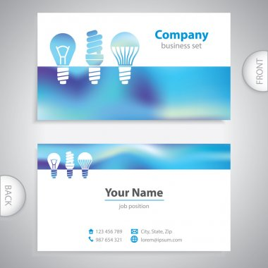 business card - LED bulbs - Light bulbs - consumer electronics -