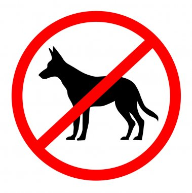 No dogs sign - vector illustration.