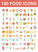 Photo Large set of food and cooking icons