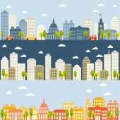 plochá městská krajina koncept