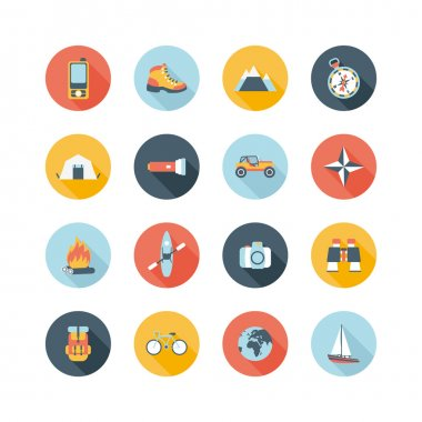 Adventure traveling icons