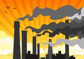 těžké průmyslové smogu