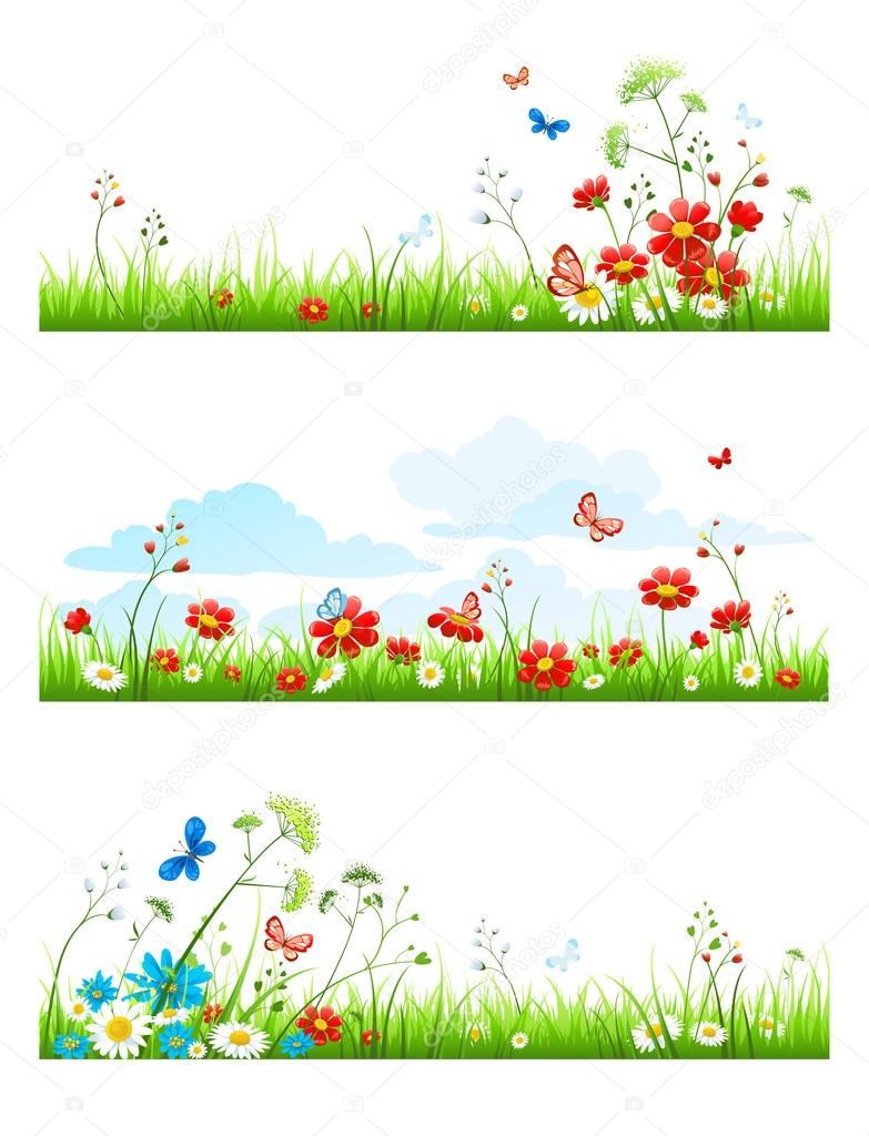 Summer Grass And Flowers Set Stock Vector C Paprika 88651624