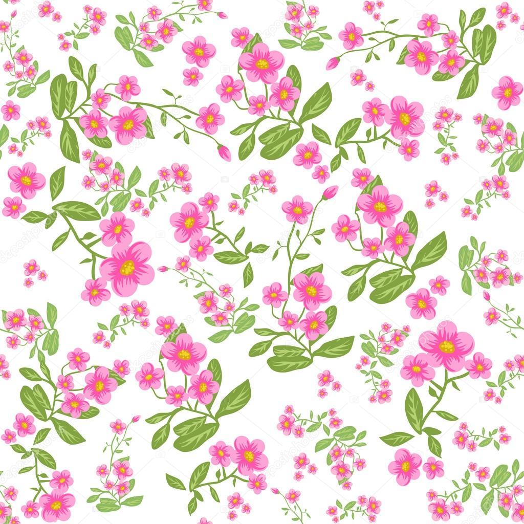 fundo flor rosa vetor de stock