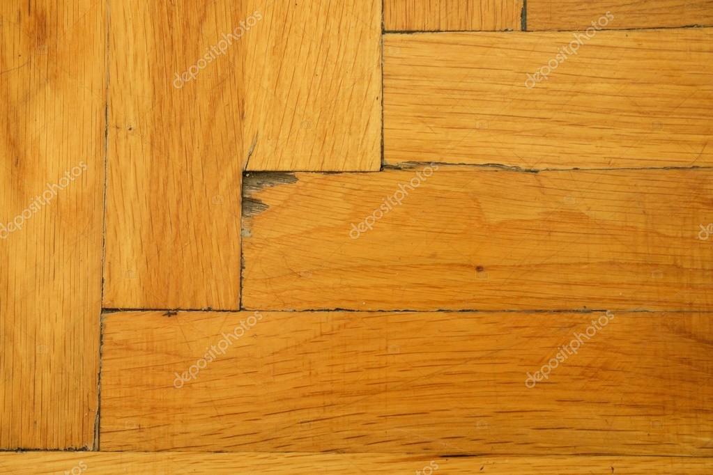 Houten vloer van sporthal versleten licht houten vloeren van